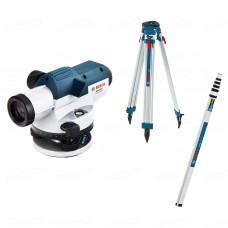 Оптический нивелир Bosch GOL 26 D Professional + штатив BT160 + рейка